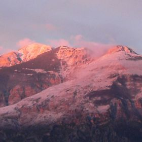 This is a photo of the Maiella mountains...nothing added....all natural and as it was on the morning of the photograph