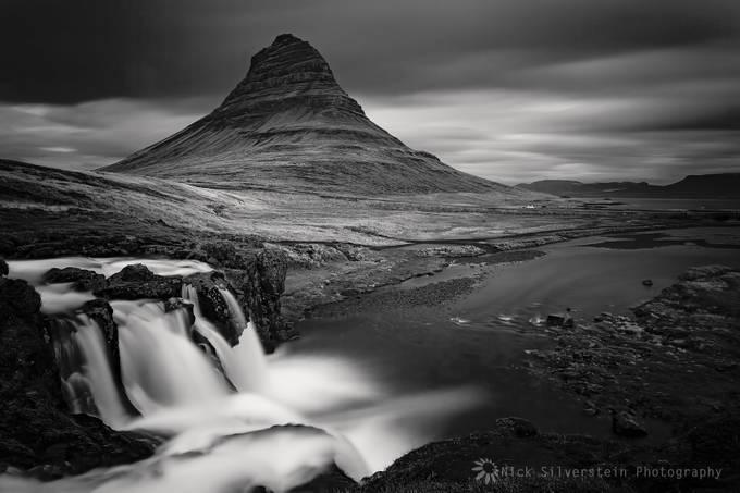 Iceland. Kirkufell-Grundarfjordur by NickSilverstein - Black And White Mountain Peaks Photo Contest