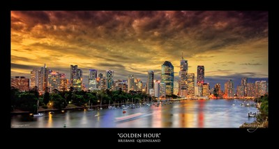Golden Hour_canvas & poster print_24x11in