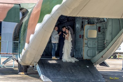 Wedding in a C-123