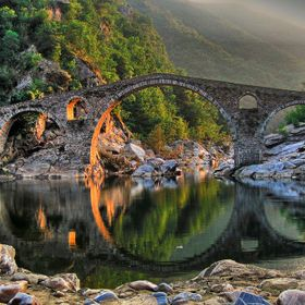 Devil's Bridge – an Ancient Bridge over the Arda River – Town of Ardino, Bulgaria