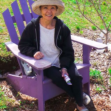 Relaxing in the Lavender garden.