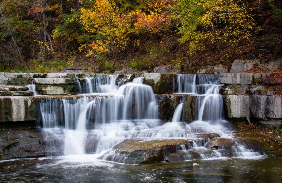 Part of Taughannock Falls Located in Ithaca, Ny.