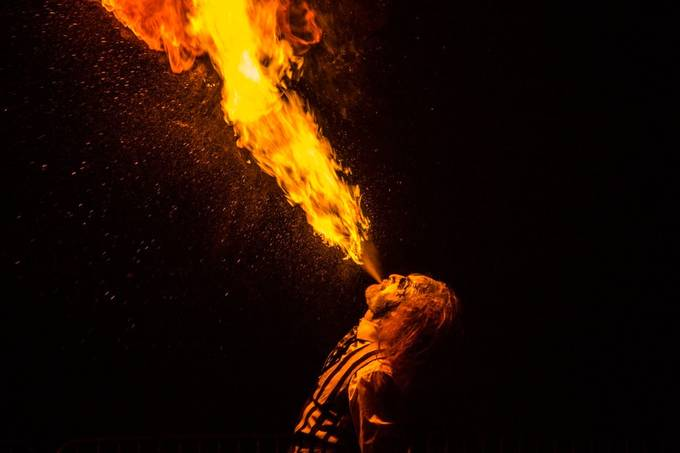 Fire eater by jackiegoodwin - Shooting Fire Photo Contest