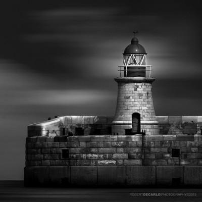 Lit Lighthouse