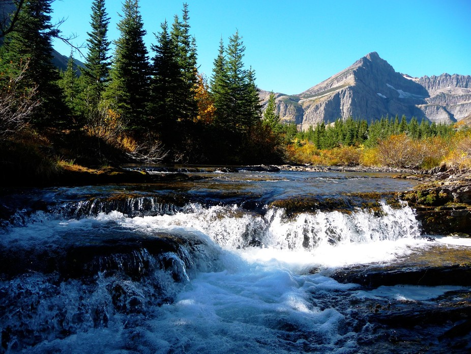 2015-09-27 Swiftcurrent Valley 051 - Waterfall