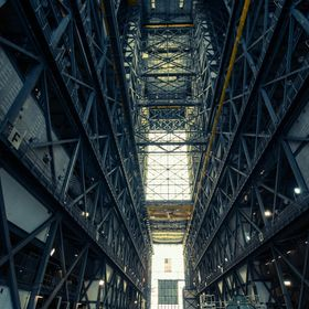 Inside NASA's VAB building. A huge single story building used to construct any rockets that are being sent into space for various missions. ...