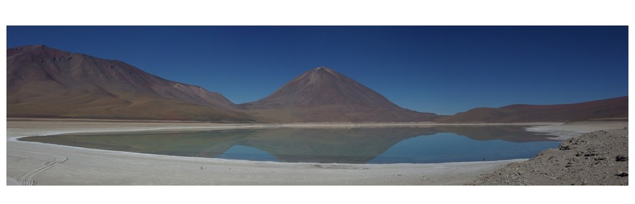 stitch Panoramic of Largo Verde (the Green Lake) in Bolivia