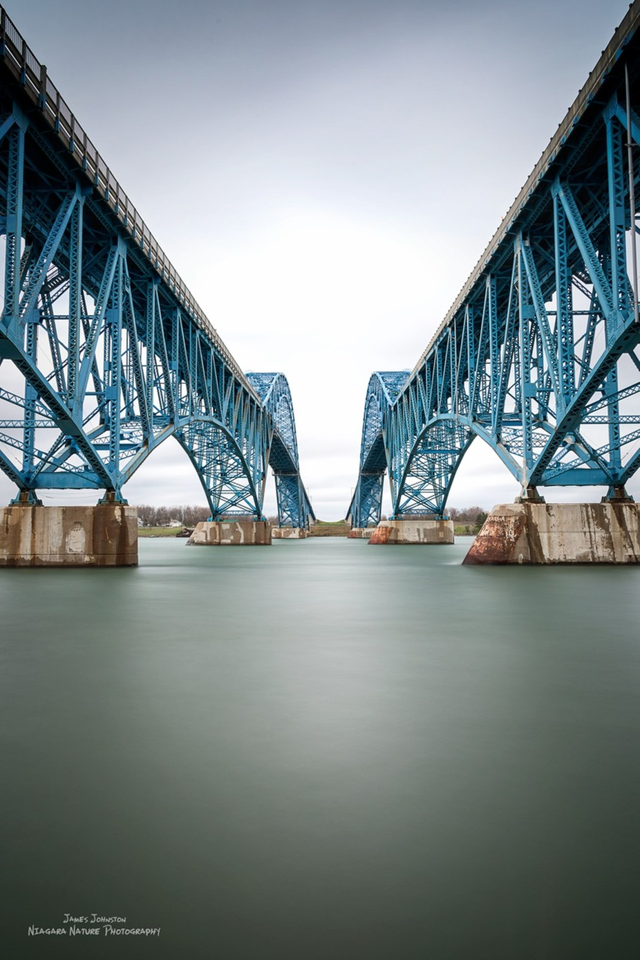 Grand Island Bridge Color Study by jamesjohnston_3471 - Composing with Diagonals Photo Contest