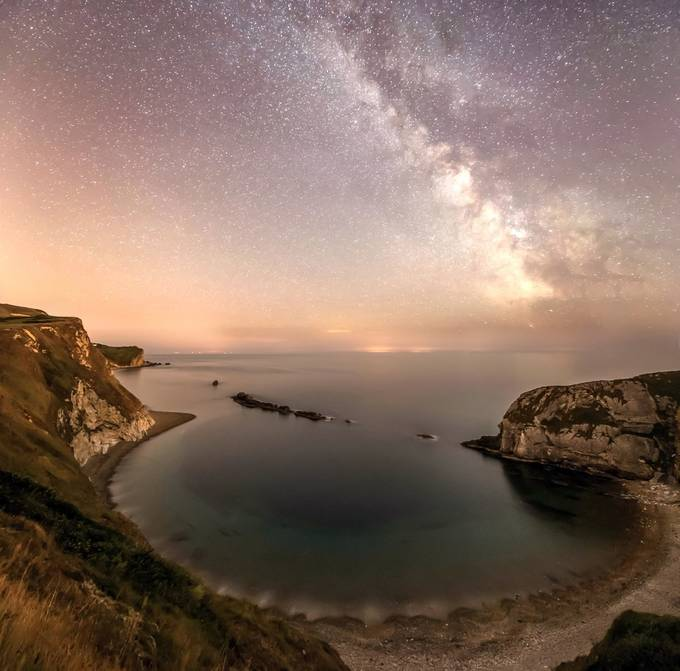 Man O War cove Dorset and the milky way  by shaunjacobs - Monthly Pro Vol 17 Photo Contest