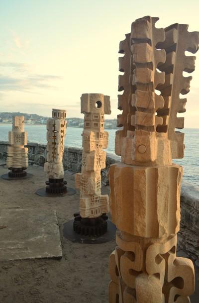 Cliff sculptures