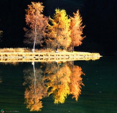 Late sun rise on lac des Plagnes