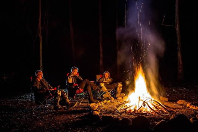 By the Fireside by Wendyjc - Outdoor Camping Photo Contest
