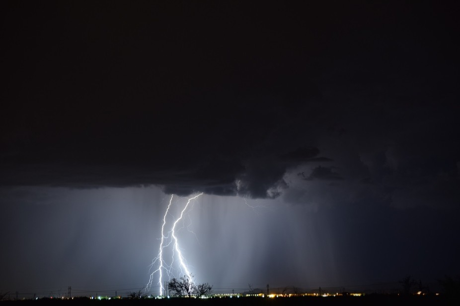 The incredible luck of a violent lightning display now frozon in time. One of the rare opertuniti...