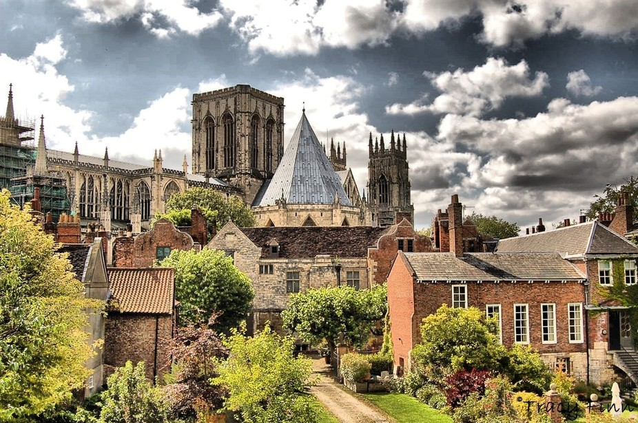 Taken from a walk around the tower walls in York with York Minster in the background - 2014