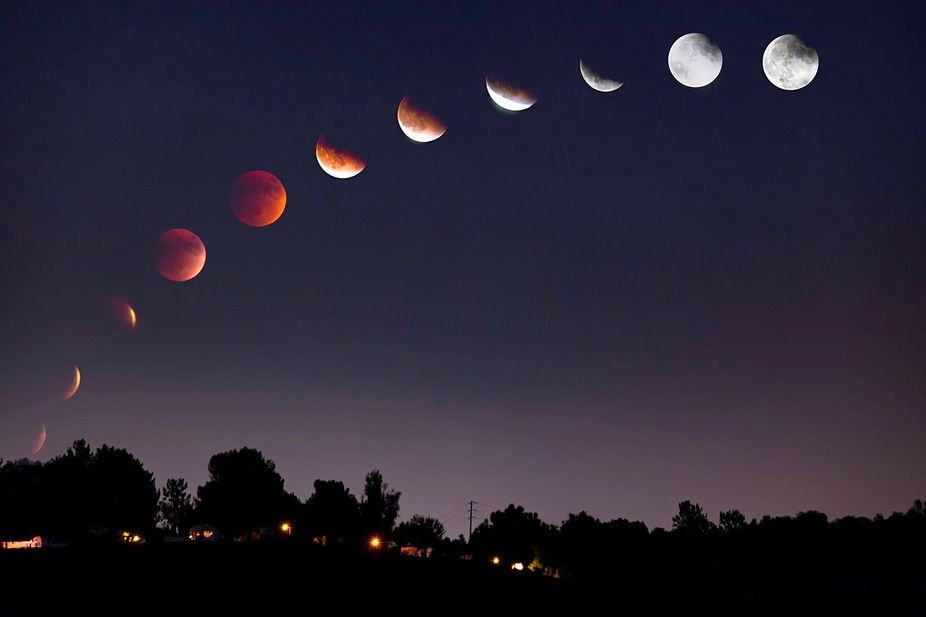 We left our house on a very cloudy evening to take some shots of the blood moon eclipse.  We were...
