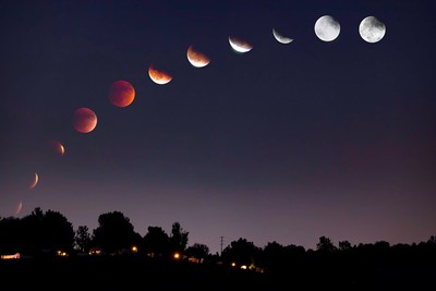Blood Moon Eclipse Phases