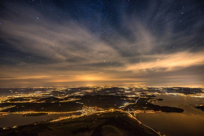 Rigi by Night by petrabischoff - Cloudy Nights Photo Contest