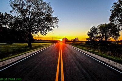 Road way SunSet