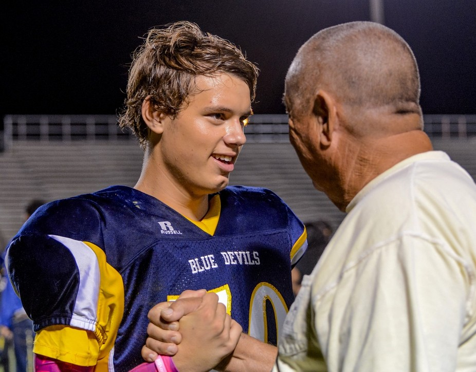 Our Grandson had just finished a football game that gave  him a 2 year unbeaten team! I am so thr...