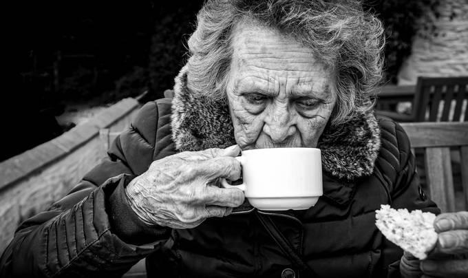 Tea & Scones, then a ciggy; no worries!! by Badgrandad - Portraits With Depth Photo Contest