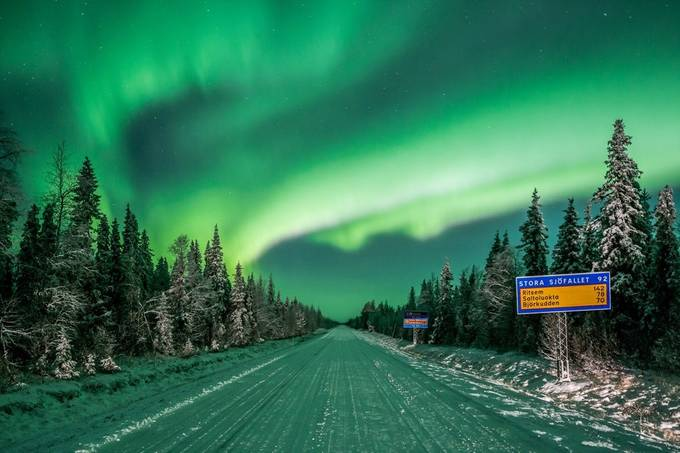 Aurora Road by joakimsyk - Nature And The Night Photo Contest