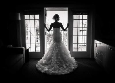 A bride waiting