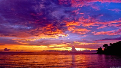 Sunset at Lombok, Indonesia.