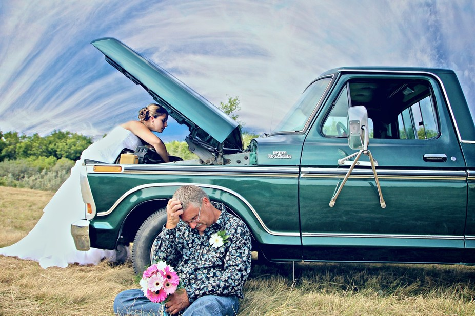 This is the first wedding I shot. A country wedding where the father and daughter both had great ...