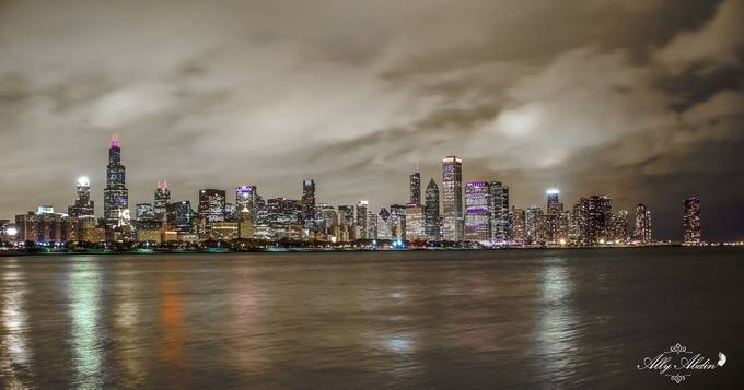 Chicago skyline  by Allyabdin - Modern Cities Photo Contest