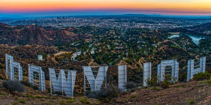 Iconic Hollywood Sunset by ArtbyArt - Sunset In The City Photo Contest