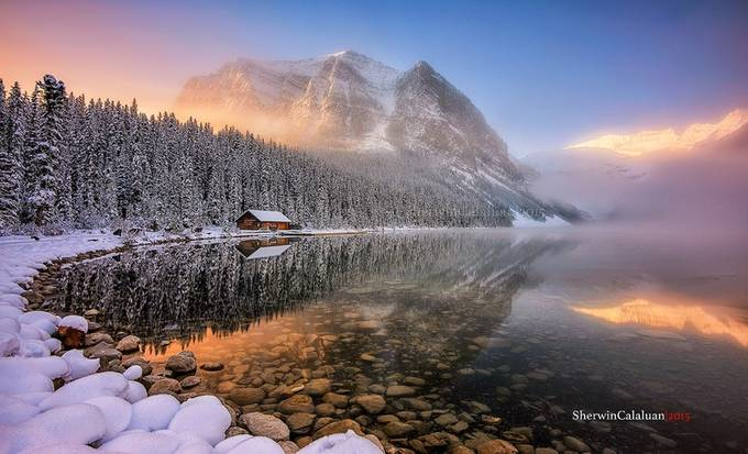 Winter Wonderland by sherwincalaluan - Spectacular Lakes Photo Contest