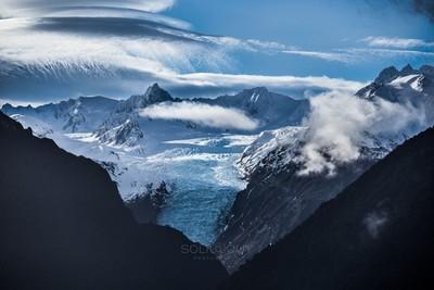 Glacier Lenticular Waterfall