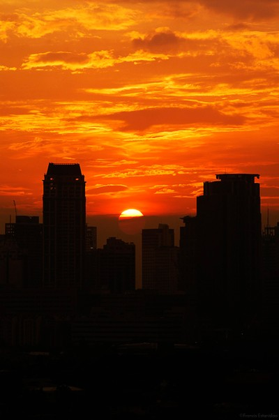sunset in the cbd