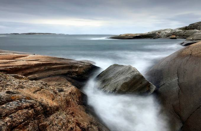 "Seascape IV -""Worlds End"" by Elmer-Laahne - Boulders And Rocks Photo Contest"