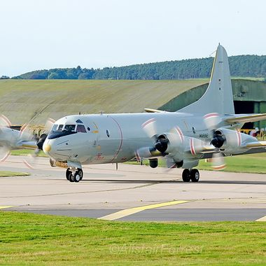 German Navy P3 Orion on exercise Joint Warrior @ RAF Lossiemouth Scotland