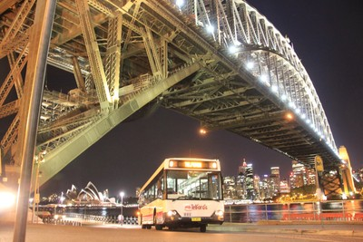 Telford's TV4011 under the Sydney Harbour Bridge at Milson's Point, Sydney