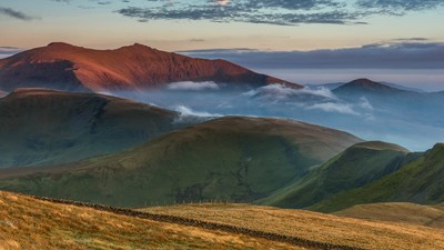 'Red, Green & Gold' - Moel Eilio, Snowdonia