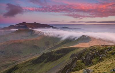 'Misty Ridge' - Moel Eilio, Snowdonia