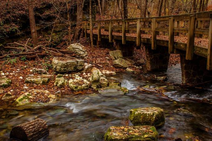 Blanchard Springs Bridge by chrisburns - The Brown Color Photo Contest