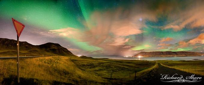Northern Lights by RichardShore - Billboards And Other Signs Photo Contest