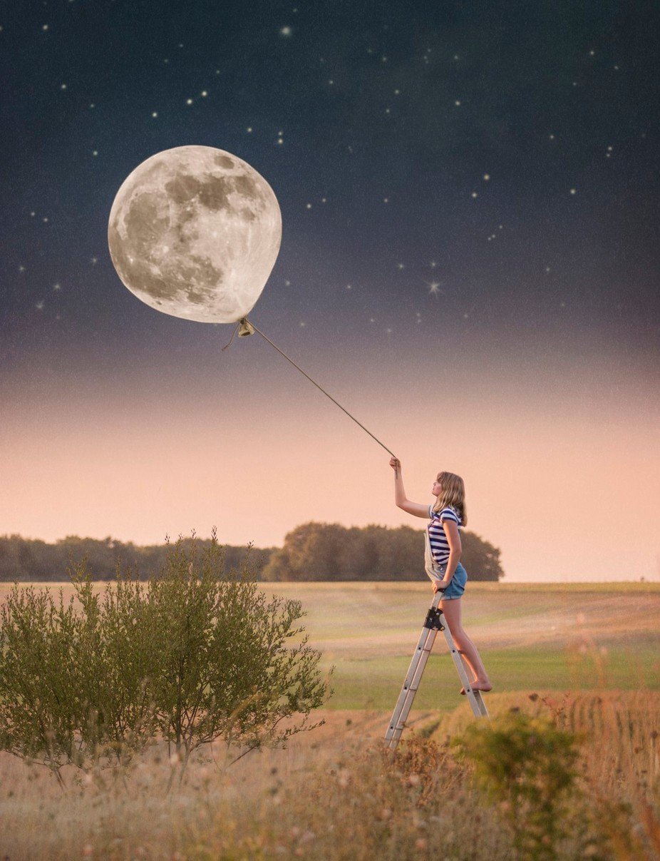 The Moon's a Balloon by imeldabell - Post Editing Magic Photo Contest
