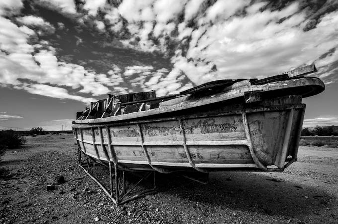 Boat in the desert  by LeeAnneDunwoody - Monochrome Creative Compositions Photo Contest
