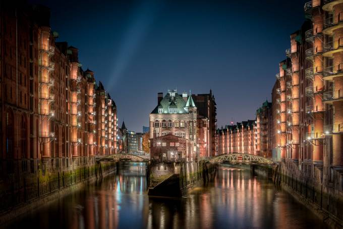 Germany - Hamburg House in Canal by jacobsurland