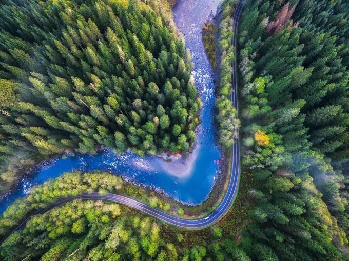 Mountain Loop HWY drone photo by Michael Matti by MichaelMatti