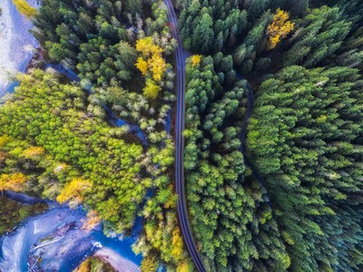 Mountain Loop Highway Drone Photo by Michael Matti