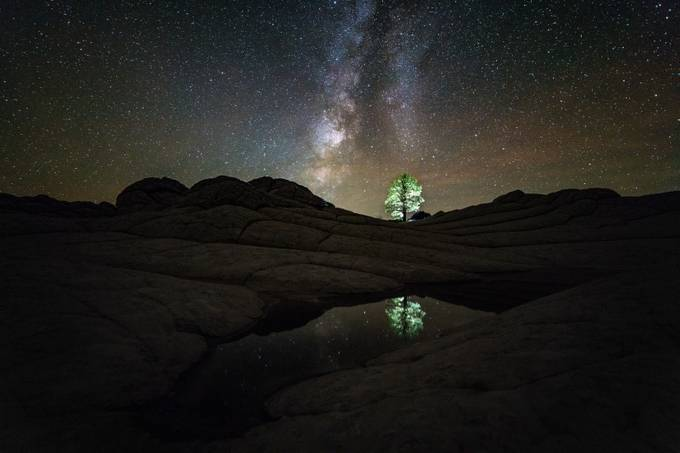 Night Reflections over White Pocket by jasonjhatfield - Capture The Milky Way Photo Contest