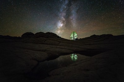 Night Reflections over White Pocket