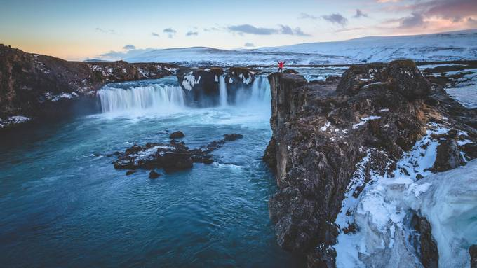 Godafoss ME by byrnephotography - People And Waterfalls Photo Contest