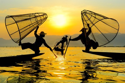 inlefisher by sunset